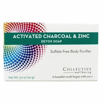 Detox Bar Soap with Activated Charcoal & Zinc - 5 oz. by Collective Wellbeing (pack of 2)