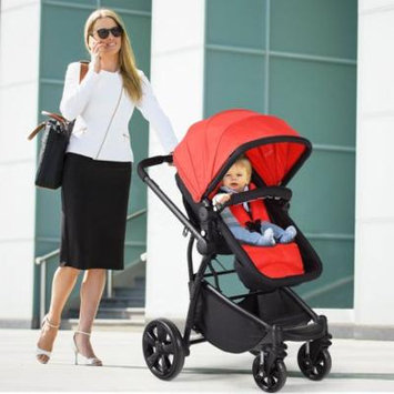 2 in 1 Folding Aluminum Buggy Newborn Travel Baby Stroller-Red