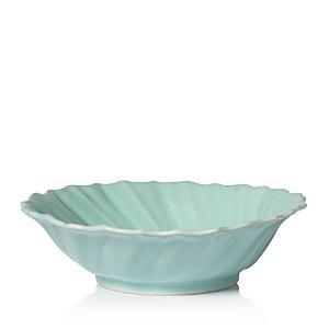 Vietri Incanto Stone Aqua Ruffle Large Bowl