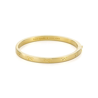 kate spade heavy metals engraved bow bangle