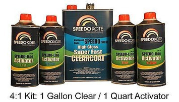 Speedokote Mobile Refinish Clear Coat High Gloss Super Fast Clearcoat Gallon Kit SMR-105/95