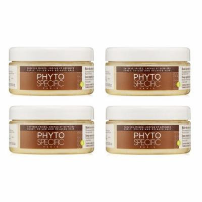 Phyto PhytoSpecific Deep Repairing Cream Bath, 6.8 Oz (Pack of 4) + Makeup Blender Stick, 12 Pcs