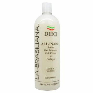 La-Brasiliana Dieci 33.8-ounce All-In-One Instant Hair Treatment