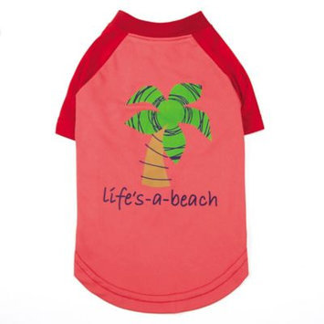 Pet Edge Dealer Services Zack and Zoey SPF40 Lifes a Beach Dog Shirt MD
