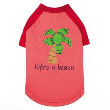 Pet Edge Dealer Services Zack and Zoey SPF40 Lifes a Beach Dog Shirt LG