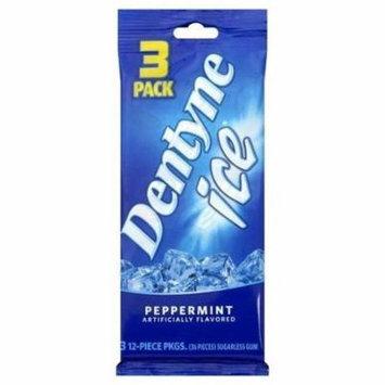 3 Dentyne Ice Peppermint Sugarless Gum 3 Pack