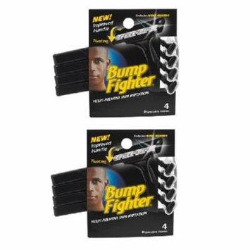 Bump Fighter Mens Disposable Razors - 4 ct. (Pack of 2) + Makeup Blender Stick, 12 Pcs