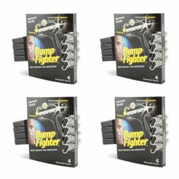 Bump Fighter Mens Disposable Razors Mens 4 Ct. (4 pack) + Makeup Blender Stick, 12 Pcs