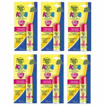 Banana Boat Kids UVA/UVB Protection Sunscreen Stick for Faces, Broad Spectrum SPF 50, 0.55 Oz (Pack of 6) + Makeup Blender Stick, 12 Pcs