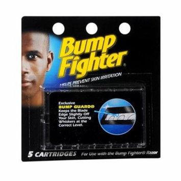 Bump Fighter Refill Cartridge Blades for Men - 5 ea. + Makeup Blender Stick, 12 Pcs