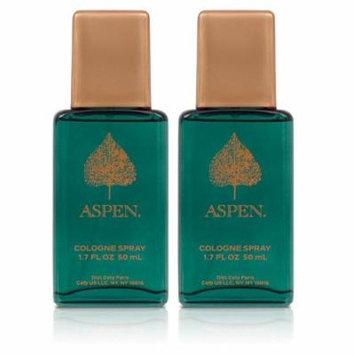 Aspen Cologne Spray Gift Set 2 X 1.7 Oz + Makeup Blender Stick, 12 Pcs