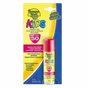 Banana Boat Kids UVA/UVB Protection Sunscreen Stick for Faces, Broad Spectrum SPF 50, 0.55 Oz + Makeup Blender Stick, 12 Pcs