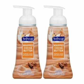 Softsoap Whipped Cocoa Butter Foaming Liquid Hand Soap, 8 oz, 2 Pack