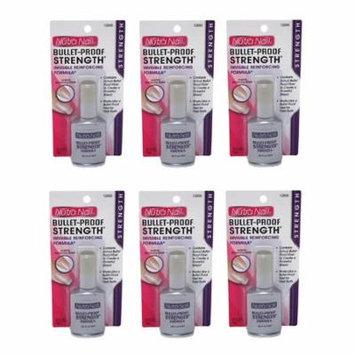 Nutra Nail Bullet-Proof Stength Formula + High Gloss Top Coat (Pack of 6) + Makeup Blender Stick, 12 Pcs