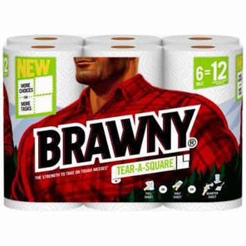 Brawny Paper Towels, Tear-A-Square, 6 Rolls