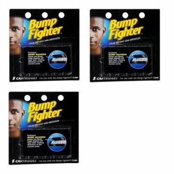 Bump Fighter Refill Cartridge Blades for Men - 5 ea. (Pack of 3) + Makeup Blender Stick, 12 Pcs