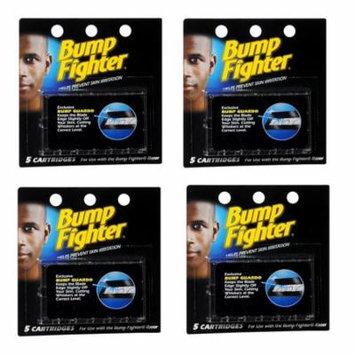 Bump Fighter Refill Cartridge Blades for Men - 5 ea. (Pack of 4) + Makeup Blender Stick, 12 Pcs