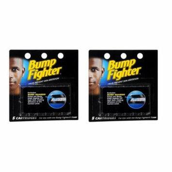 Bump Fighter Refill Cartridge Blades for Men - 5 ea. (Pack of 2) + Makeup Blender Stick, 12 Pcs
