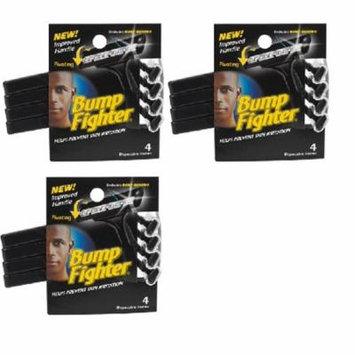 Bump Fighter Mens Disposable Razors - 4 ct. (Pack of 3) + Makeup Blender Stick, 12 Pcs