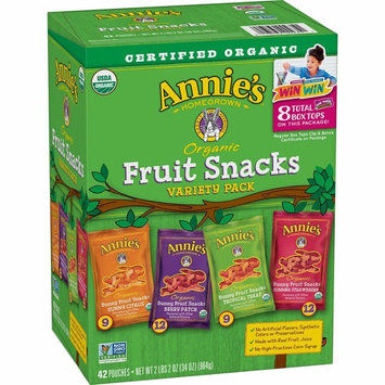 Annie's XX Organic Bunny Fruit Snacks, Variety Pack, 0.8 oz Each, Delivery Within 2-3 DAYS … (42 Pouches)