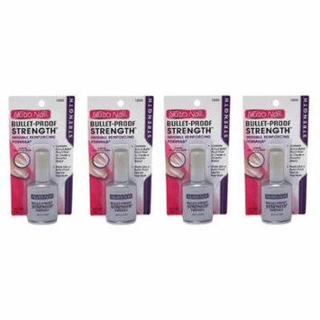 Nutra Nail Bullet-Proof Stength Formula + High Gloss Top Coat (Pack of 4) + Makeup Blender Stick, 12 Pcs