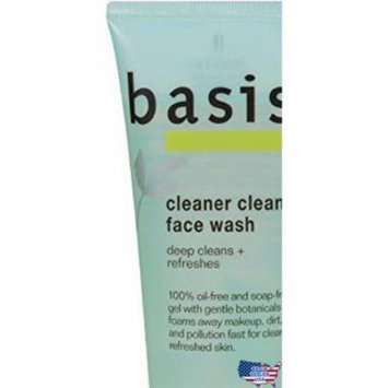 Basis Cleaner Clean Face Wash, 6 Ounce Tube (Pack of 3) , New, Free Shipping