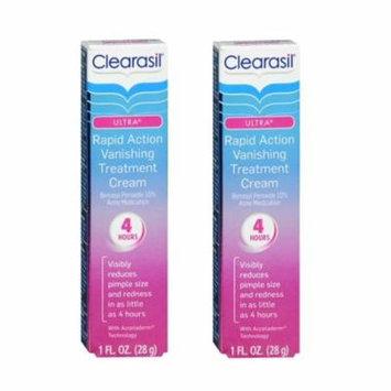 Clearasil Ultra Rapid Action Treatment Cream, Maximum Strength, 1 Oz (Pack of 2)