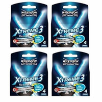 Wilkinson Sword Xtreme3, 4 Count Refill Razor Blades (Pack of 4) + Makeup Blender Stick, 12 Pcs