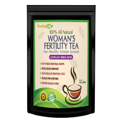 Teatox Life Chaste tree berry fertility supplement tea for menstral cramp period pain relief & aid pregnancy ovulation help as pcos supplements USDA Organic