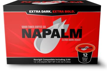 Napalm Coffee, EXTRA DARK ROAST, 100% Arabica, Keurig K-Cups, 12 Count