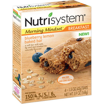 Nutrisystem Morning Mindset Blueberry Lemon Breakfast Bars, 1.5 Oz, 24 Ct