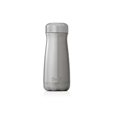 Swell S'Well Traveler Silver Lining Insulated Stainless Steel Water Bottle, Size 16 oz - Metallic
