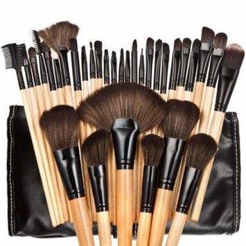 32pcs Professional Soft Cosmetic Eyebrow Shadow Makeup Brush Set Kit Pouch Bag