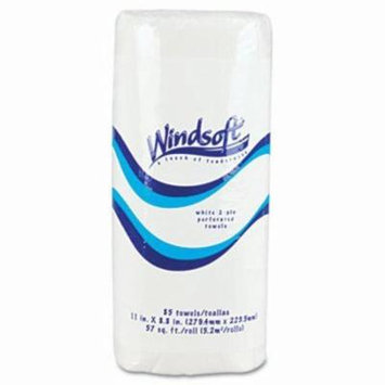 Windsoft Kitchen 2-Ply Paper Towel Roll, 85 Sheets (WIN122085RL)