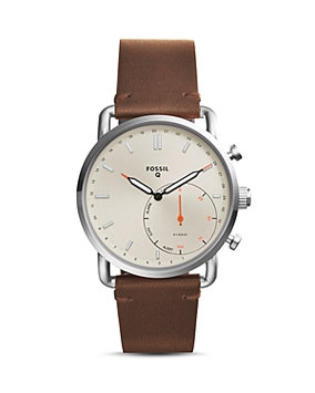 Fossil Hybrid Smartwatch - Q Commuter Brown - Fossil Wearable Technology