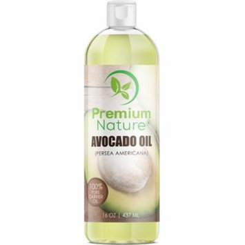 Premium Nature Avocado Oil for Hair Face and Body 16 oz