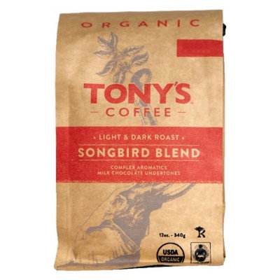 Tony's Coffee Songbird Blend Whole Bean Light Roast Coffee - 12oz