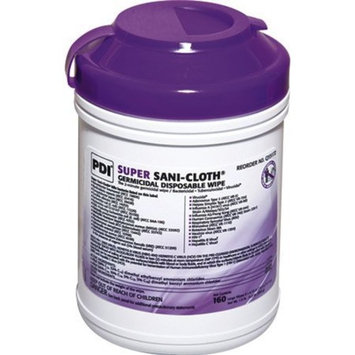 Professional Disposables Surface Disinfectant Super Sani-Cloth Wipes, 160 Count