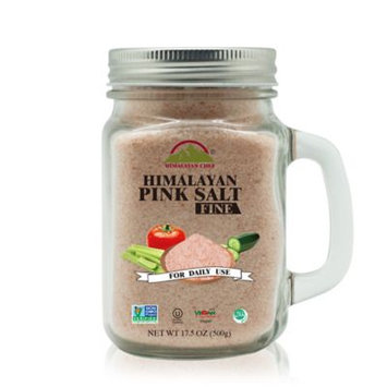 Hiamalayan Chef Pink Salt Mason Jar with Handle