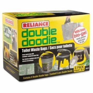 Reliance 341138 Doubledoodie Toilet Bag 6pk, Pack of 1