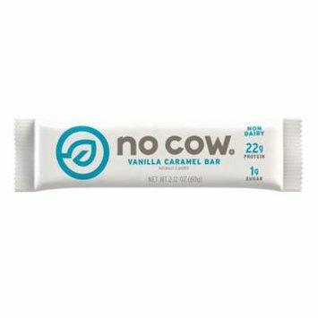 No Cow Protein Bar Vanilla Caramel, Plant Based Protein (22g), Low Sugar, Dairy Free, Gluten Free, Vegan, 12 Count