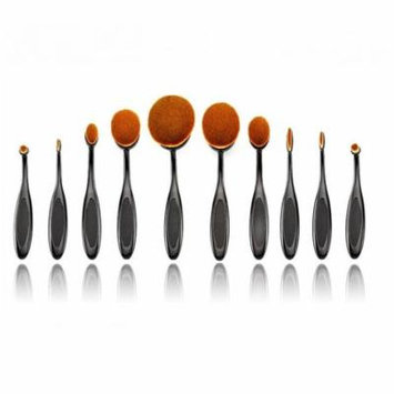 Women's Cosmetic Beauty Enhancement Oval Soft Bristles Brush Set