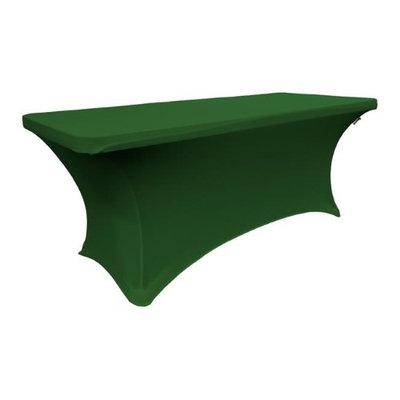 LA Linen TCSpandex96x48x30-GreenEmeraldX32 Rectangular Spandex King Size Tablecloth Emerald Green - 96 x 48 x 30 in.