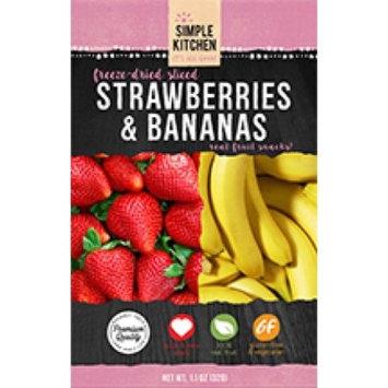 Wise Company Freeze-Dried Sliced Fruit, Strawberry & Bananas, 4.6 Oz