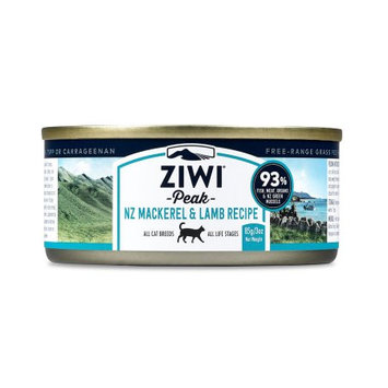 ZiwiPeak Canned Cat Food Mackerel & Lamb 3 oz Case 24