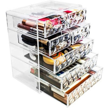 Sorbus Makeup and Jewelry Storage Case Display - 3 Large and 4 Small Drawers - Clear