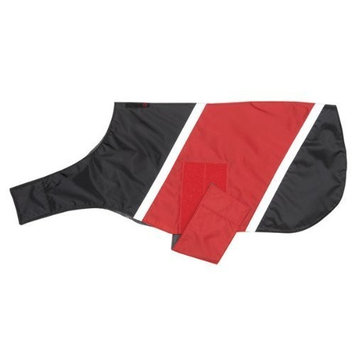 Ultra Paws Dog Coat - X Small in Black with Red