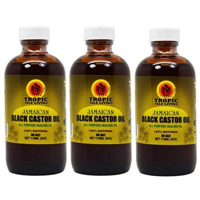 Tropic Isle Living Jamaican Black Castor Oil 4oz 'Pack of 3' w/Free Applicator