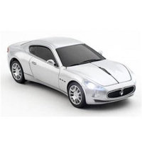 Totally Tablet CCM660097 Maserati Gran Turismo computer mouse in Silver with 2.4 GHz wireless technology