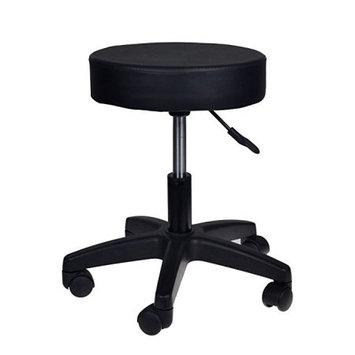 CALHOME Adjustable Black Tattoo Salon Stool Hydraulic Rolling Chair Facial Massage Spa